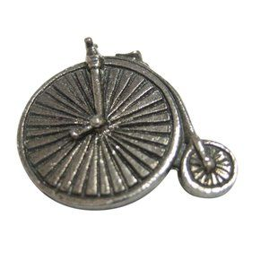 Textured Penny Farthing Retro Bicycle Magnet